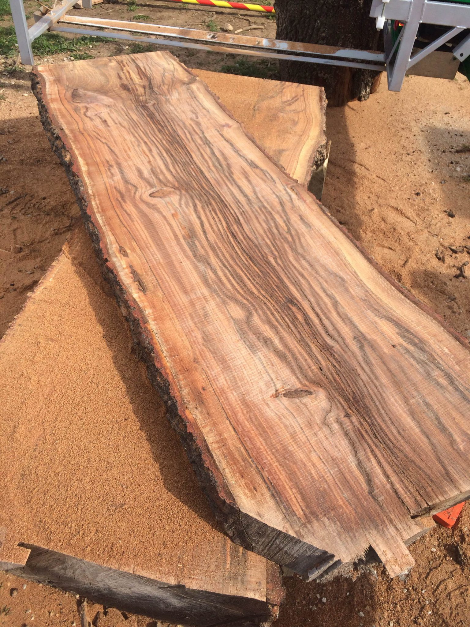 Large wood countertop fresh off the sawmill