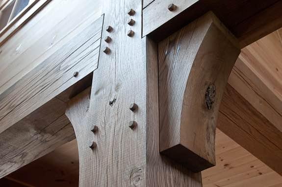 Custom milled hardwood post and beams