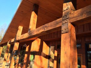 Stunning timber trusses, posts, and beams on Missouri estate