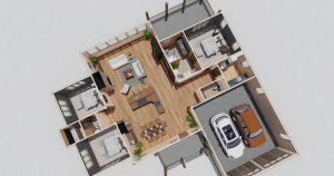 Forrest Hills Timber Frame House Plan