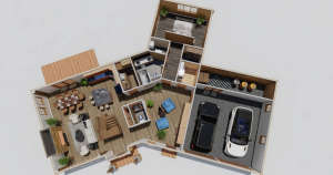 Longview Timber Frame House Plan