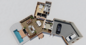 Walston Timber Frame Pine Top Timber Frame House Plan