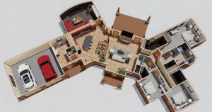 Ramblers Camp timber Frame house plan
