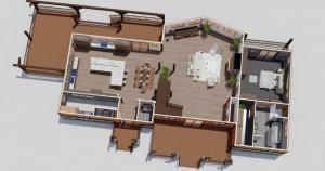 Treeside Timber Frame House Plan