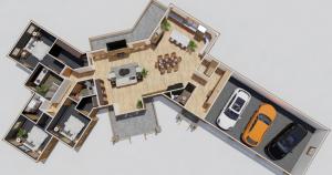 Boulder Ridge Timber Fram House Plan