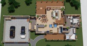 Elk Run House Plan 3D image