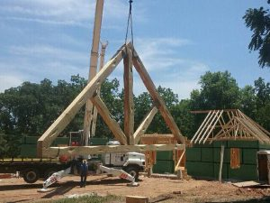 Construction on timber frame structure