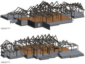 Timber Frame Structure Render