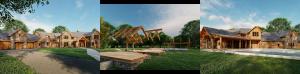 Clark Timber Frame Home Exterior Rendering