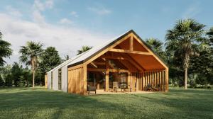 Denali Timber Frame Home Exterior Rendering