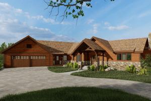 Essman Timber Frame House Exterior Rendering