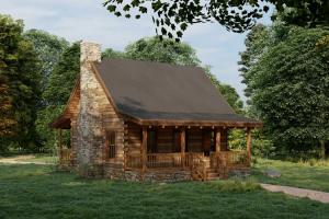 Seifret Timber Frame Cabin Exterior Rendering
