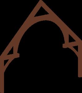 decorative timber frame truss