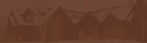 brown overlay hero image of timber frame home