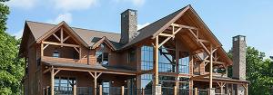 Exterior photo of Timber Frame Home